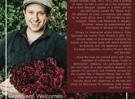 Greenleaf Wholesale Welcomes Shawn Michael Foley AIFD