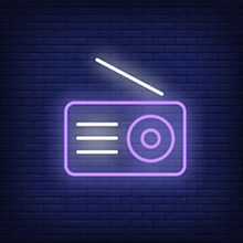 radio-set-neon-icon-receiver-with-antenn