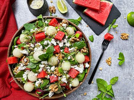 Melon & Feta Cheese Salad