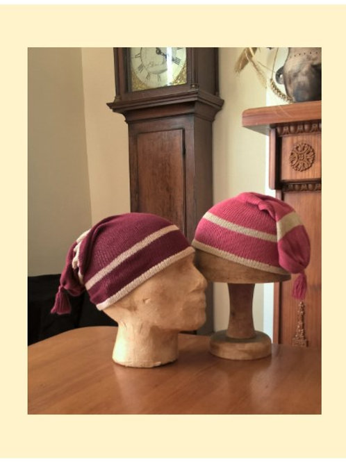 Striped Silk Nightcap -to order