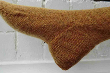 Common heel, seamed stockings