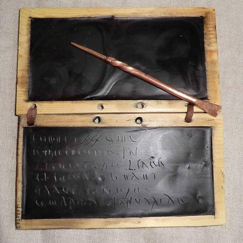 Wax writing tablet