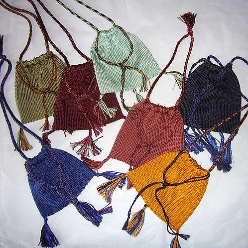 Silk medieval purse