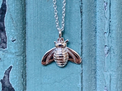 Bee Kind Necklace - Sterling Silver