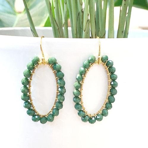 Evergreen Oval Earrings