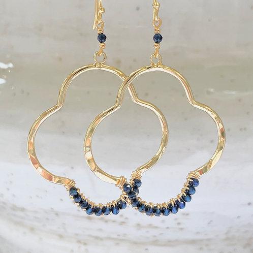Lapis Lazuli Clover Earrings