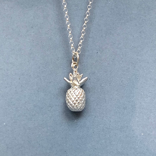 Pineapple Necklace - Sterling Silver