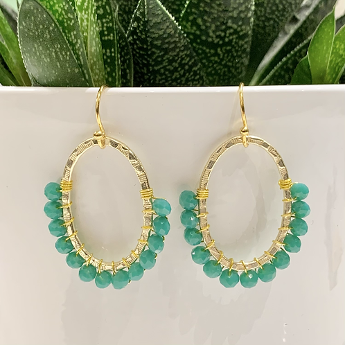 Seafoam 3/4 Oval Earrings