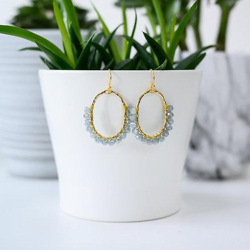 Grey 3/4 Oval Earrings