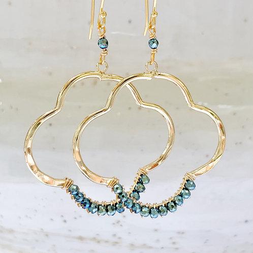 Pyrite Clover Earrings