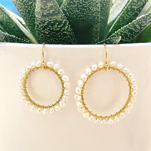 Freshwater Pearl Round Earrings (Medium Pearls)