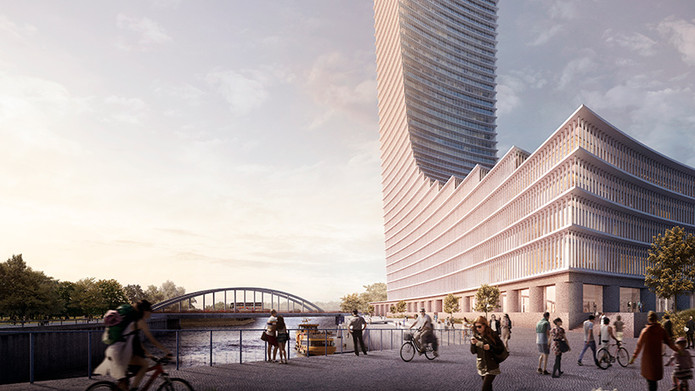 David Chipperfield Architects (DCA) Has Won A Competition To Construct The  Tallest Building In Hamburg, Germany. The 230 Meter Tall Tower (755 Ft)  Will Act ...
