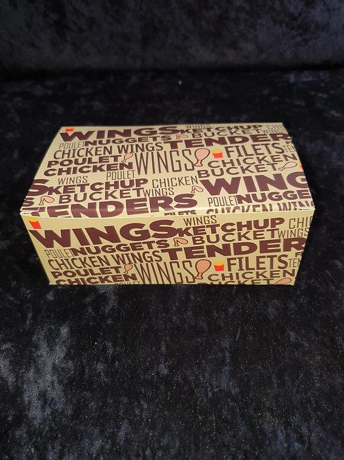 Chicken/ Hähnchen Box (Chicken Wings Karton)