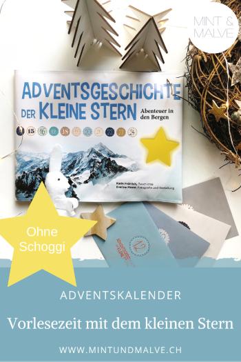 """Buchtipp MINT & MALVE: Adventsgeschichte """"Der kleine Stern"""". Abenteuer in den Bergen"""