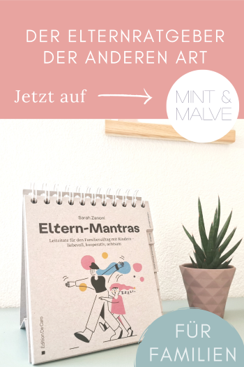 mint & malve Buchtipp: Eltern-Mantras - Sarah Zanoni (Edition De Caro 2021)