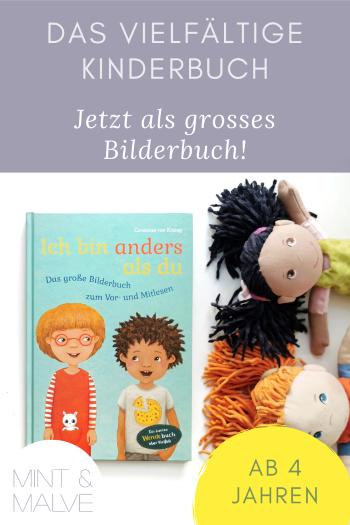 mint & malve Buchtipp: Ich bin anders als du - Das grosse Bilderbuch zum Vor- und Mitlesen - Constanze von Kitzing (Carlsen 2021)