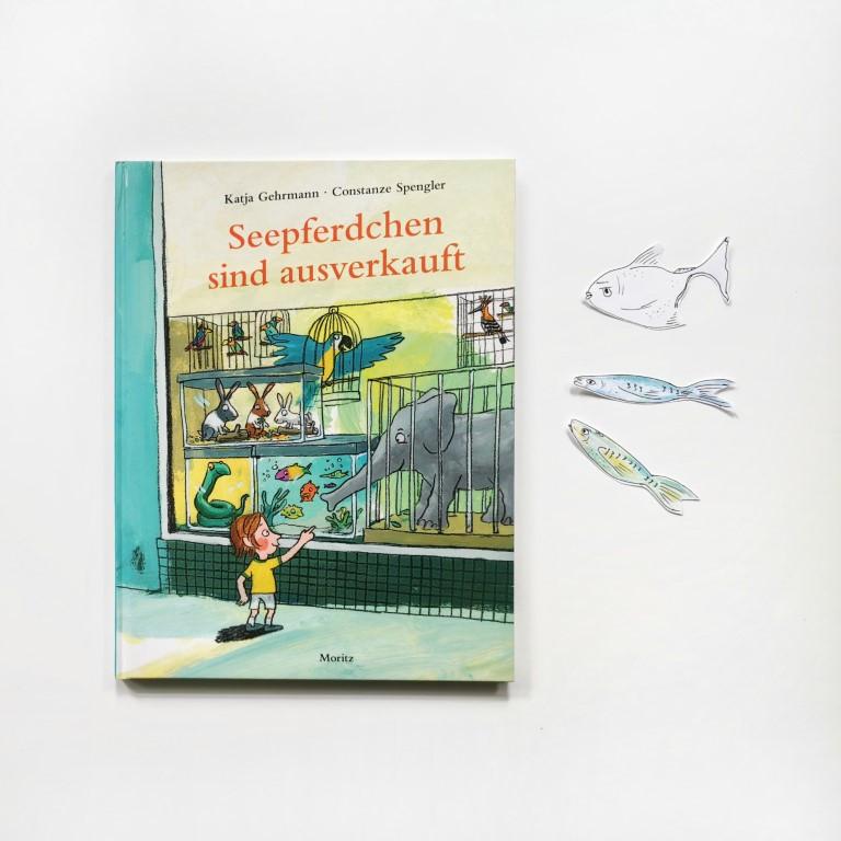 MINT & MALVE Buchtipp: Seepferdchen sind ausverkauft - Constanze Spengler, Katja Gehrmann, Moritz Verlag, 2020