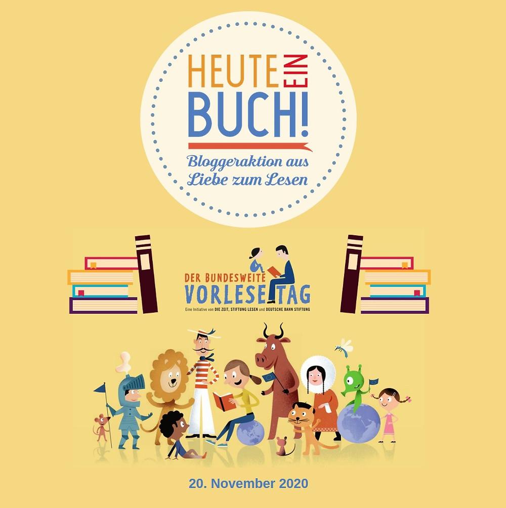 """Coppyright: Stiftung Lesen. Grafik """"Heute ein Buch!"""" (c) Mike Hopf von ORANGE IDEA."""