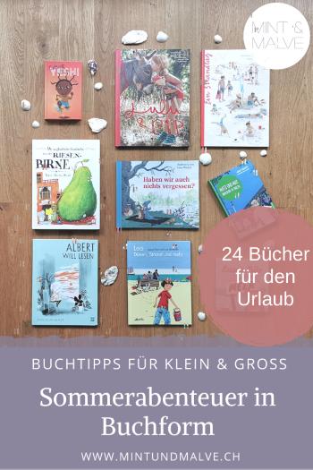 MINT & MALVE Buchtipps: Sommerbücher für Gross und Klein