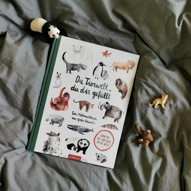 Die Tierwelt, die dir gefällt. Ein Mitmachbuch von Gretas Schwester - Sarah Neuendorf (arsEdition 2021)