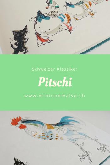 Bilderbuchtipp MINT & MALVE: Pitschi von Hans Fischer, Schweizer Klassiker über ein kleines Kätzchen