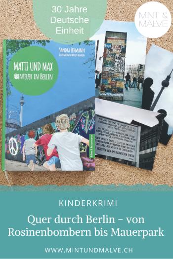 Buchtipp MINT & MALVE. Matti und Max - Abenteuer in Berlin - Sandra Lehmann, Manja Adamson (Biber & Butzemann, 2020)