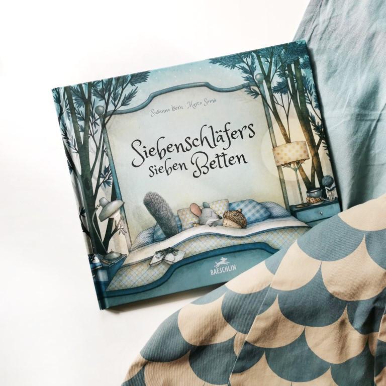 MINT & MALVE Buchtipp: Siebenschläfers sieben Betten - Susanna Isern, Marco Somà, Baeschlin Verlag, 2020