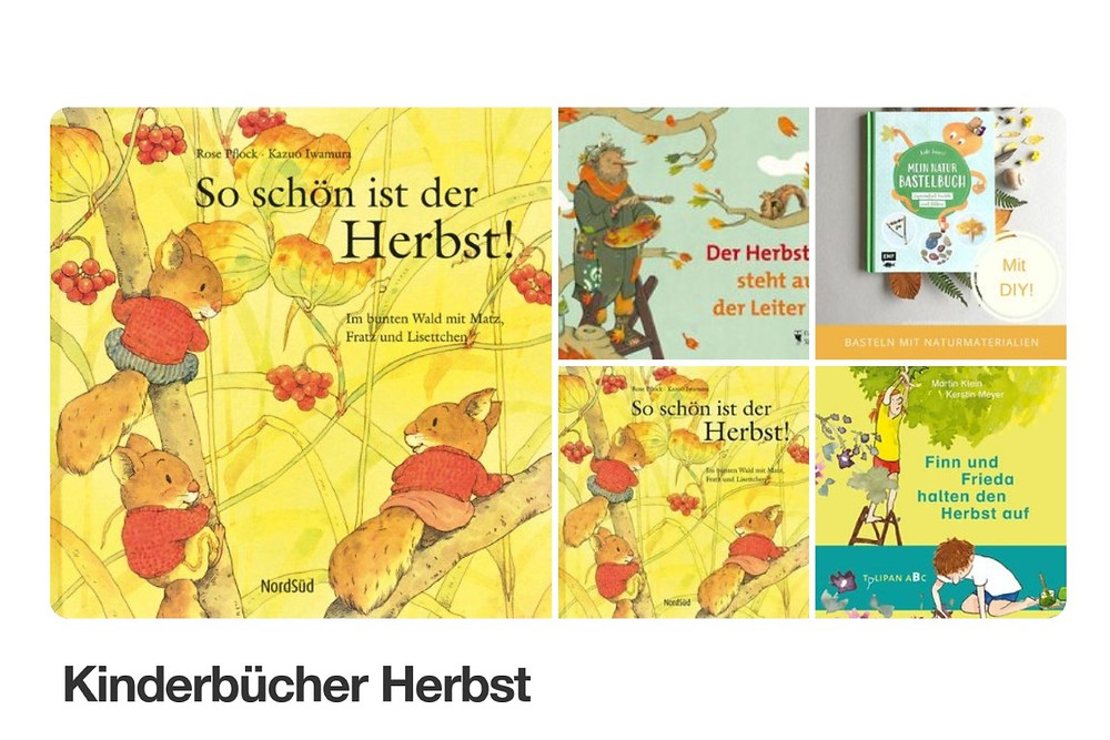 Pinnwand MINT & MALVE: Kinderbücher Herbst