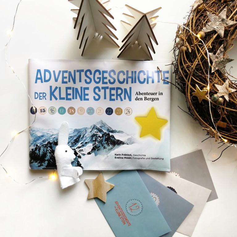 """MINT & MALVE Buchtipp: Adventsgeschichte """"Der kleine Stern"""". Abenteuer in den Bergen."""