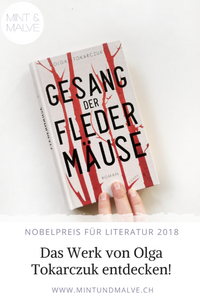 Buchtipp MINT & MALVE: Gesang der Fledermäuse, Olga Tokarczuk, Kampa, 2019