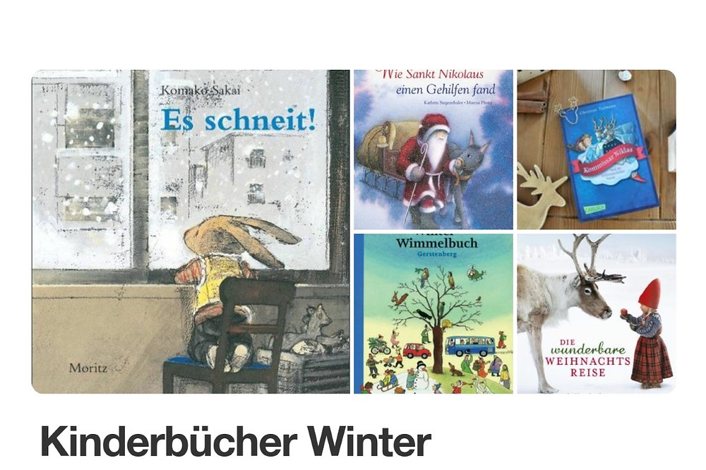 Pinnwand MINT & MALVE: Kinderbücher Winter