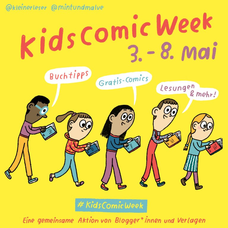 Kids Comic Week, Ilustration von Tanja Esch (2021)