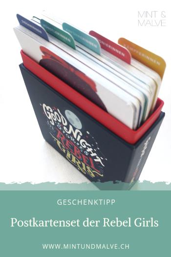 "Geschenktipp MINT & MALVE: Postkartenset ""Good Night Stories for Rebel Girls"", Hanser, 2019"