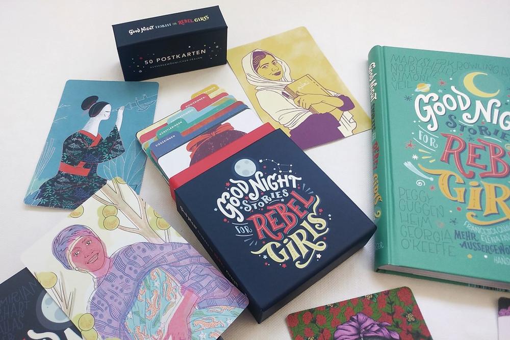 """Postkartenset """"Good Night Stories for Rebel Girls"""", ein kleiner Einblick"""