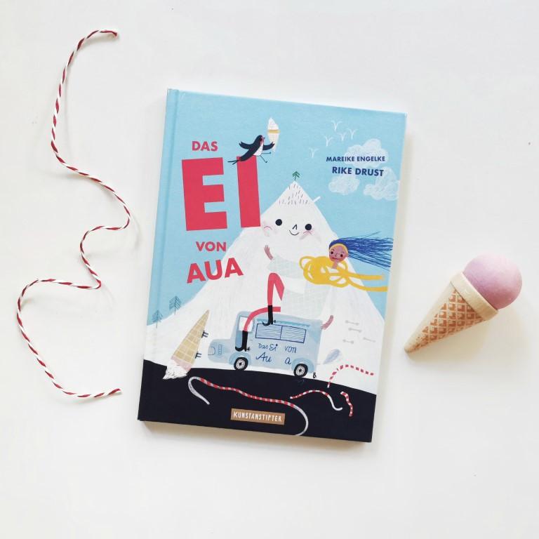MINT & MALVE Buchtipp: Das Ei von Aua - Rike Drust, Mareike Engelke (Kunstanstifter 2020)