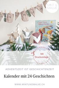 Buchtipp + Druckvorlage Adventskalender von MINT & MALVE: Engel, Hase, Bommelmütze, NordSüd, 2017