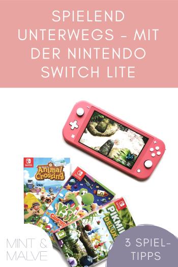 mint & malve Tipp: Nintendo Switch Lite und drei Spiele für Einsteiger*innen