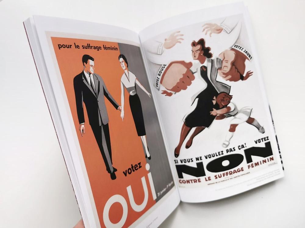 Plakate zur Volksabstimmung vom 1. Februar 1959 über das Frauenstimmrecht. Aus: Der Tag, an dem die Männer Nein sagten