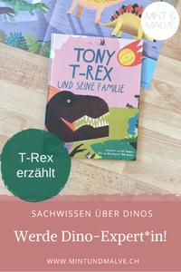 Buchtipp MINT & MALVE: Tony T-Rex und seine Familie, Rob Hodgson und Mike Benton (E.A. Seemann, 2020)