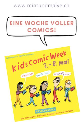 #KidsComicWeek @kleinerleser und @mintundmalve, Grafik: Tanja Esch