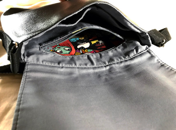 Inside view of bag