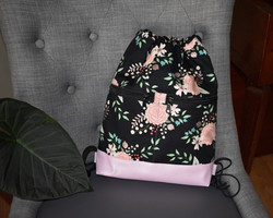 Begonia Drawstring Backpack