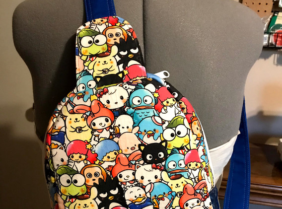 Back view of bag