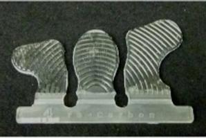 Glue on carbon tabs 2 tabs per set