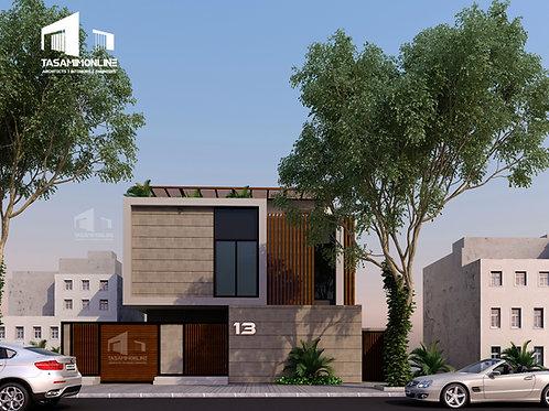 Villa Facade Concept Design فكرة تصميمية لواجهة فيلا