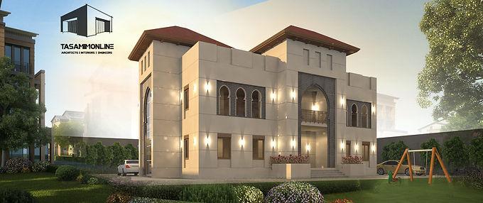 Moroccan- Andalusian Villa Design تصميم فيلا أندلسى أو مغربى