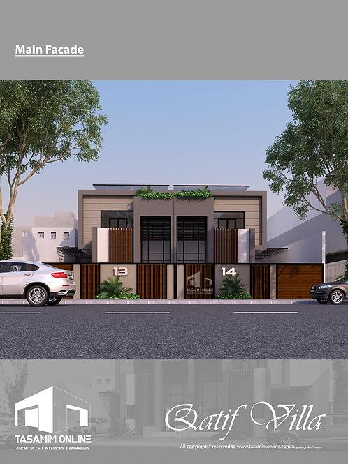 Villa concept design  فكرة تصميمية لفيلا