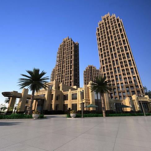 أبراج سكنية كاملة الخدمات