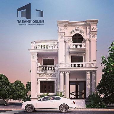 Neoclassical Home Design تصميم بيت نيوكلاسيك