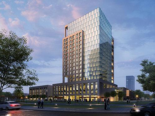 Mixed Use Building design تصميم مبنى متنوع